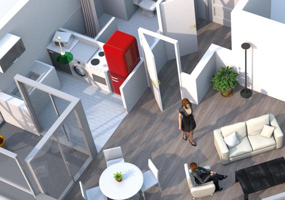 Création de visuel en 3D pour Saint Ouen habitat Public.