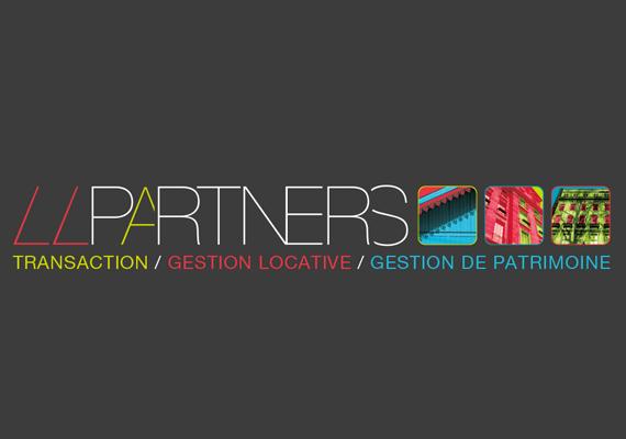 Création de l'identité visuelle de l'agence immobilière LLPARTNERS.