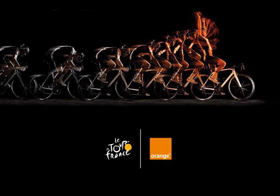 Réalisation des PLV pour Orange lors du Tour de France.