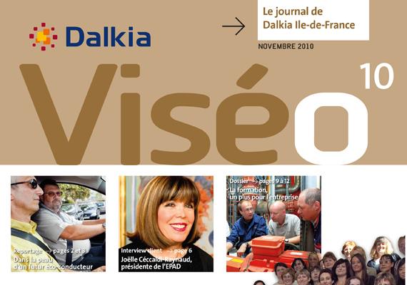 Création et réalisation de deux numéros du magazine Viséo pour le groupe Dalkia.